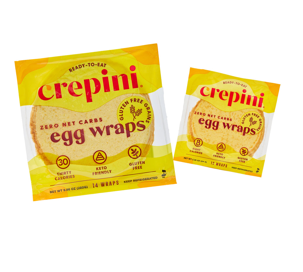 Egg Wraps With Gluten Free Grains Variety Pack 4 Petite and 4 Grande