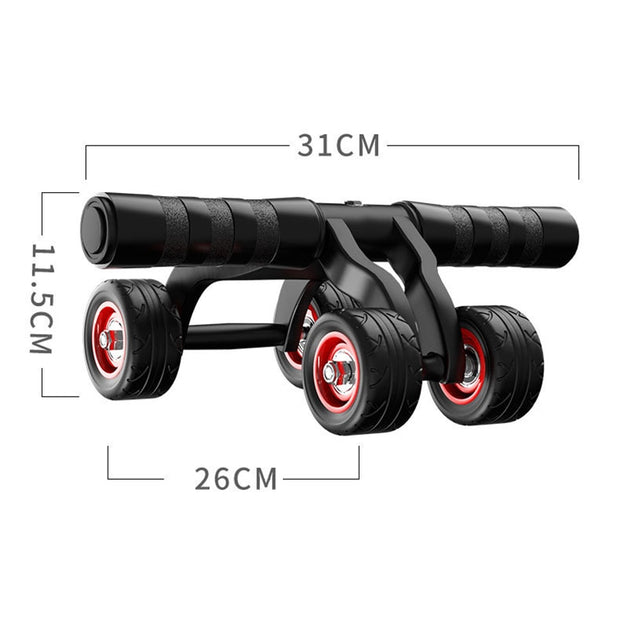 4-Wheel Abdominal Roller Muscle Trainer