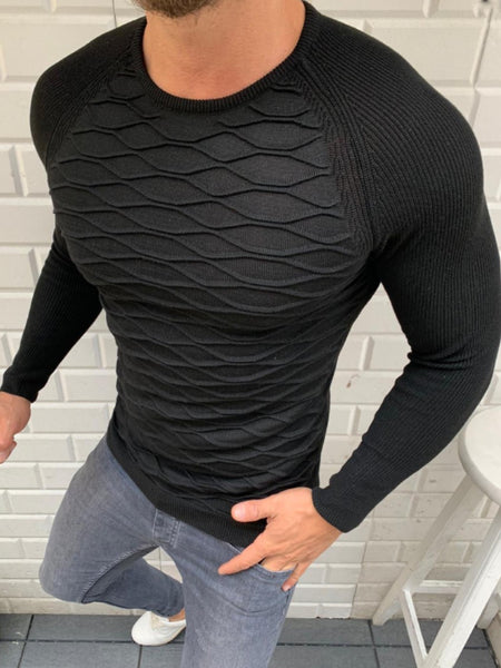 Mens Fashion Casual Plain  Sweater