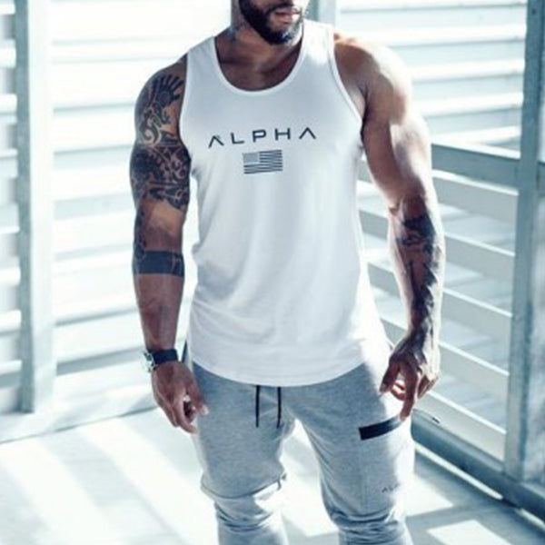 Mens Fashion Fitness Breathable Sports Vest