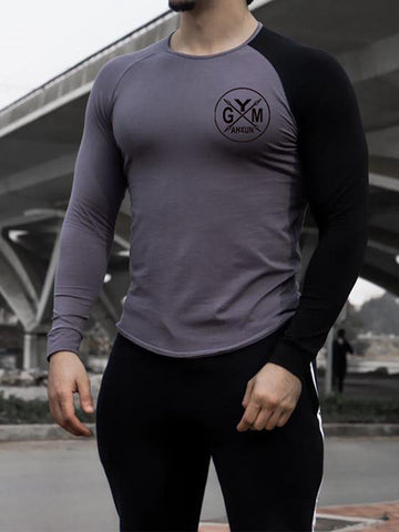 Men's Sports Fitness Round Neck  T-shirt