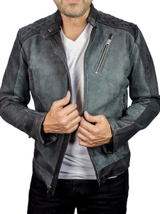 Mens Fashion Stand Collar  Motorcycle  Jacket