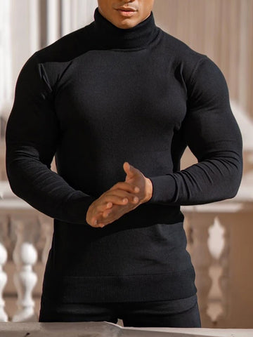 Mens Casual Muscle MenS Plain  Sweater
