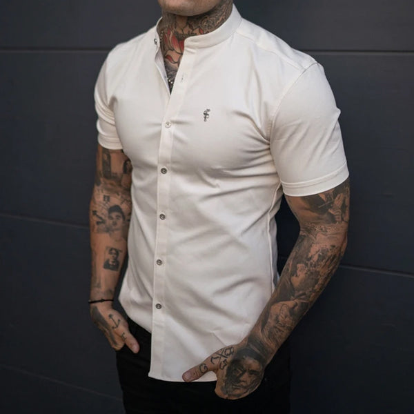 Mens Casual Muscle MenS Plain  Shirt