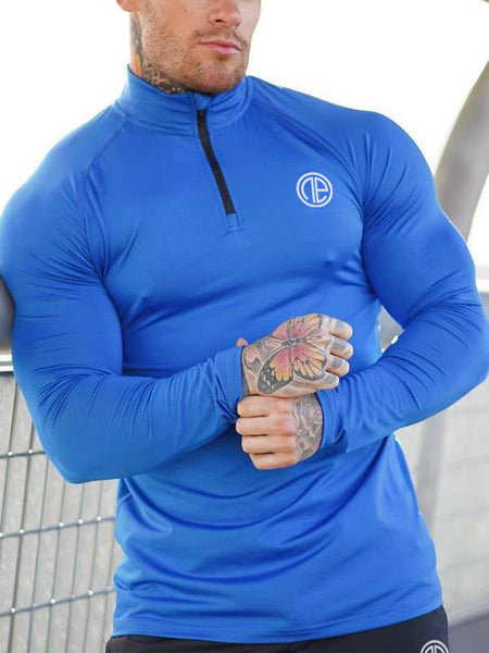 MenS Sports Fitness Long-Sleeved T-Shirt