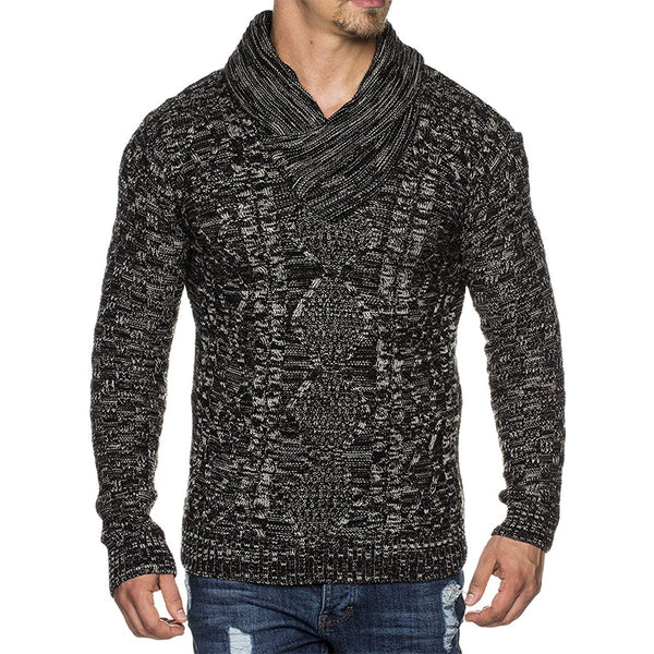 Men's fashion personality pile sweater