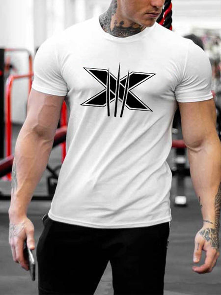 Printed Short Sleeve Sports T-Shirt