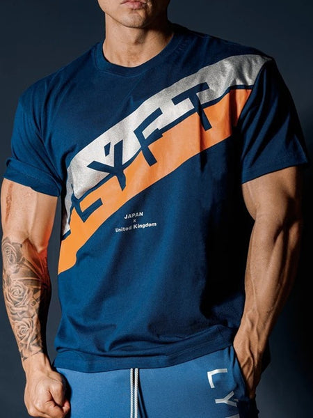Mens Sports Fitness Stretch  T-Shirt