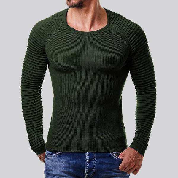 Pure Color Slim Knit Sweater