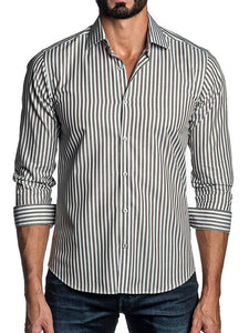 Mens Fashion Striped Button Shirt
