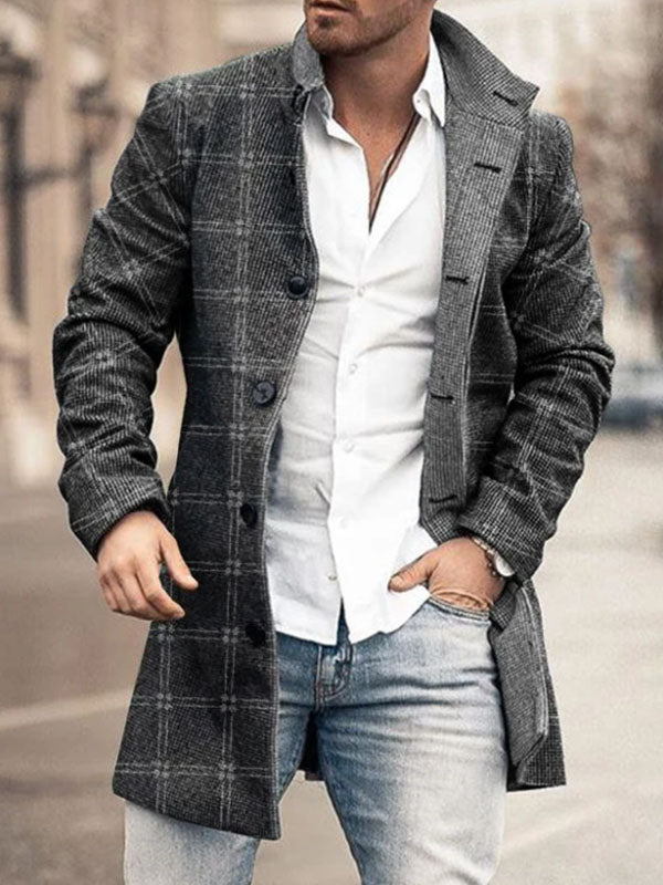 Mens Fashionable Stand-up  Coat