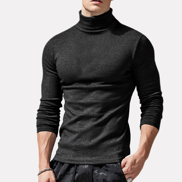 Turtleneck Long Sleeve Solid Color Top