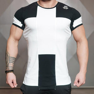 Black White Running Sports And Leisure  T-Shirt