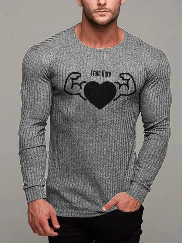 Mens Sports And Leisure Letter  Sweater