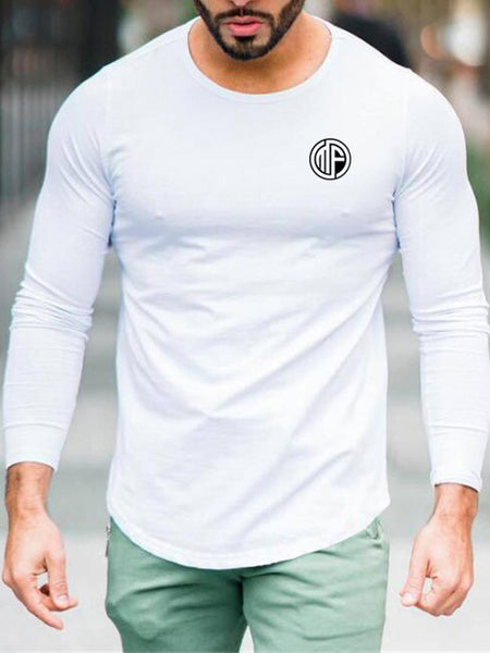 Mens Sports Fitness Round Neck T-Shirt