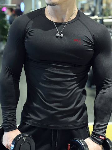 Mens Sports And  Long Sleeve T-Shirt