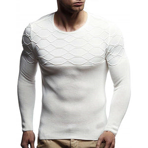 Round Neck Stretch Slim Knitted Sweater
