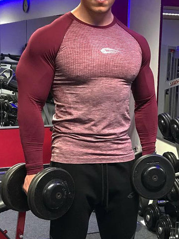 Mens Sports Fitness Long Sleeve T-Shirt