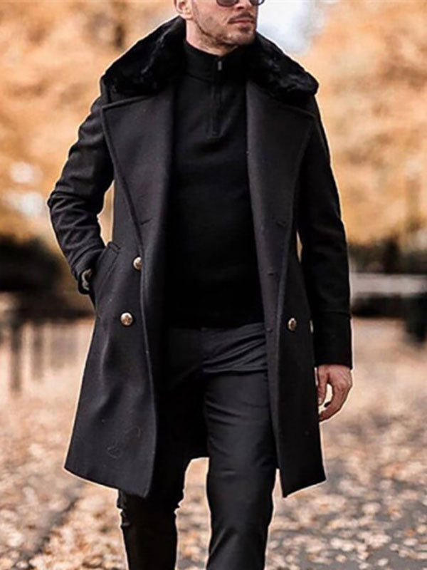 Mens fashion solid color casual coat