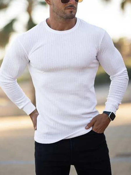 Men's Casual Sports Stretch Tight  T-shirt