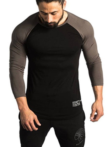 Mens O-Neck Color Block T-Shirt