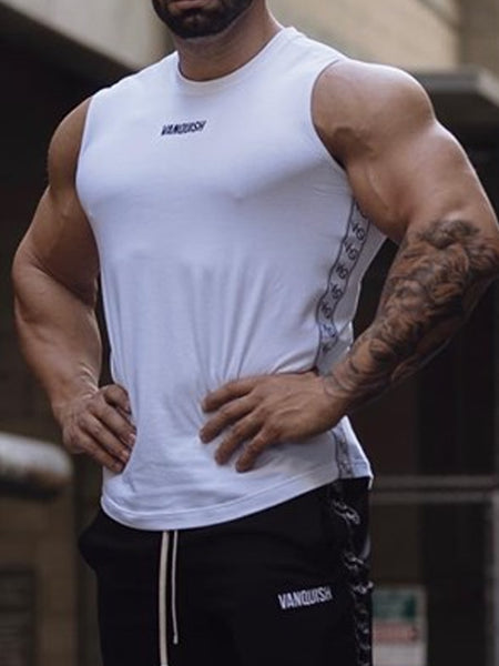 Mens Fashion Fitness Breathable Sports T-shirt