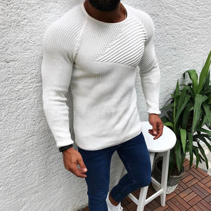 Men's fashion casual plain slim  sweater