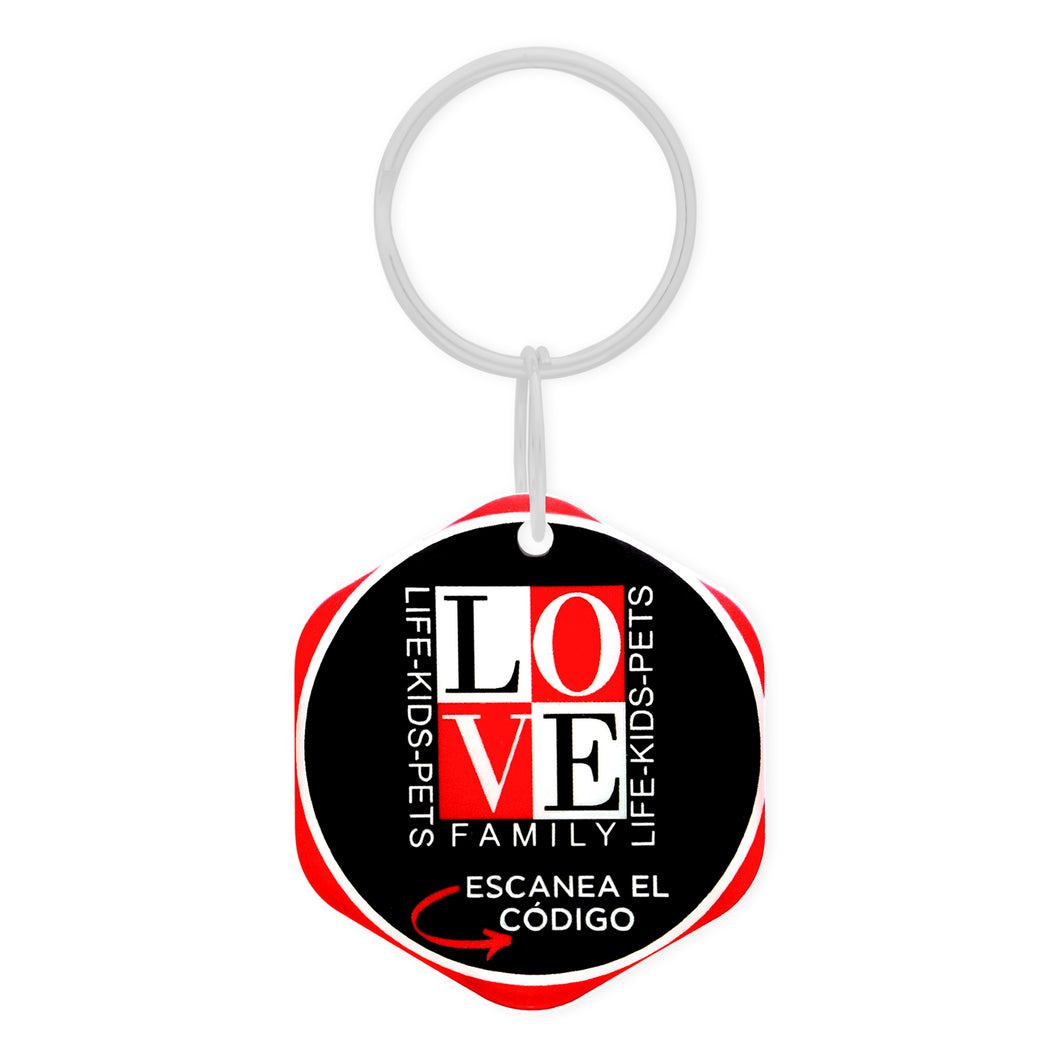 Poltags QR Black-Luv