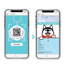 Load image into Gallery viewer, Poltags QR Black-Luv