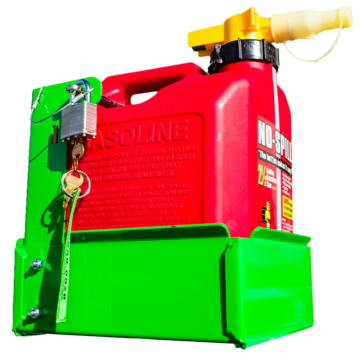 BL042-2.5 Gallon Gas Can Rack for Scepter/No Spill Brand Gas Cans (For Open/Enclosed Trailers)