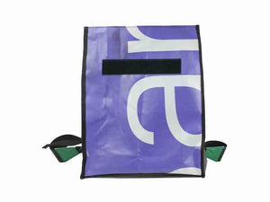 backpack base publicity banner purple green - Garbags
