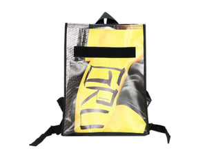 backpack base publicity banner yellow & black - Garbags