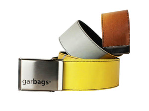 belt publicity banner yellow & grey - Garbags