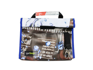 lunch bag blue & brown publicity banner - Garbags