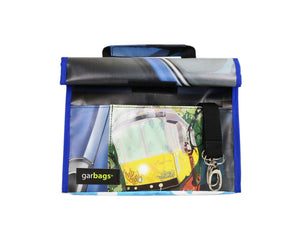 lunch bag *lisbon exclusive* tram blue & yellow - Garbags