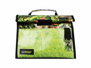lunch bag publicity banner grass patern green & black - Garbags