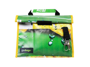 lunch bag publicity banner green & yellow - Garbags