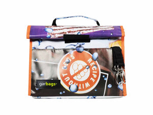 lunch bag publicity banner orange & brown - Garbags