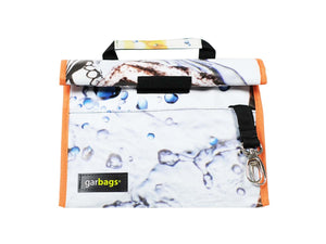 lunch bag publicity banner water drops pattern white - Garbags