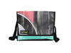 messenger bag M publicity banner black & red pattern