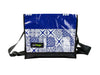 messenger bag M coffee portuguese tiles blue & black