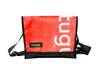 messenger bag M publicity banner white letters red & black