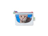 pop purse publicity banner cat light blue