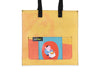 shopping bag *porto exclusive* publicity banner orange & blue francesinha