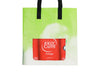 shopping bag publicity banner & coffee package green & red