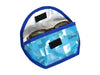 sunglasses case cat food package shiny blue