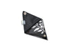 triangle purse coffee package & publicity banner silver & black