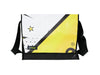 messenger bag XL publicity banner comic book pattern yellow & black 01