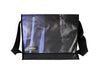 messenger bag XL publicity banner dark blue & black
