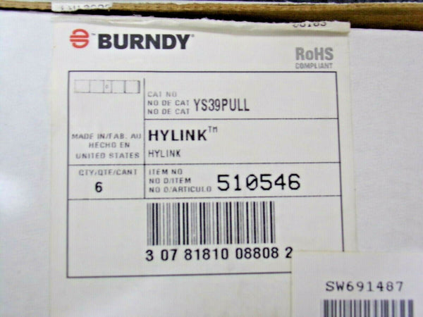Lot of 6 BURNDY YS39PULL 750KCMIL CU CONNECTOR (183674970714-W12)
